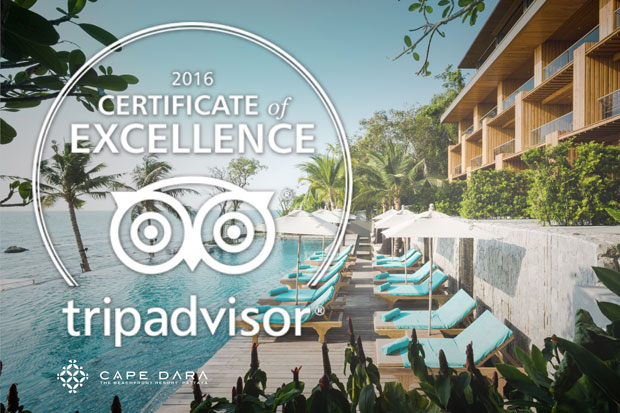 Cape Dara resort received TripAdvisor certificate of excellence 2016