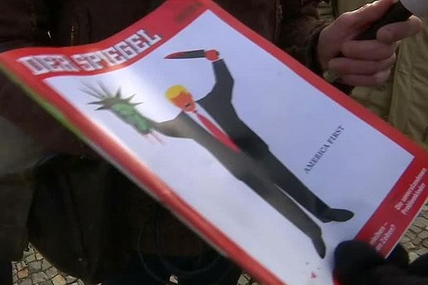 German magazine depicts Trump beheading Statue of Liberty