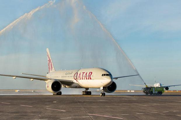 The world's longest commercial flight carried out by Qatar Airline, from Qatar to New Zealand, touched down for the first time in Auckland on Monday.