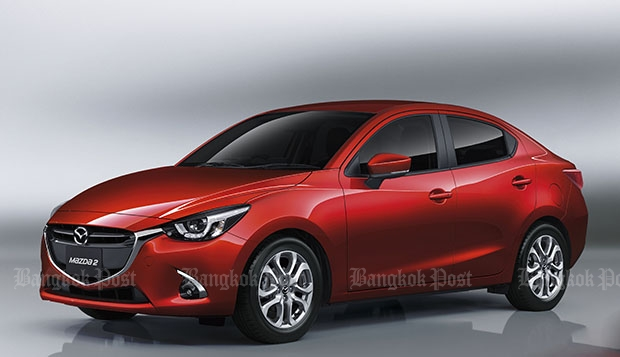 Mazda 2 updated for 2017 in Thailand
