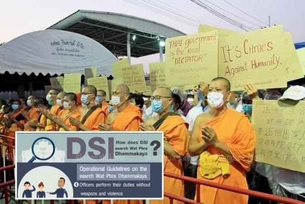 Monks break through temple barricades | Bangkok Post: news