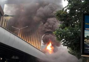 Fire closes Thai-Belgian bridge