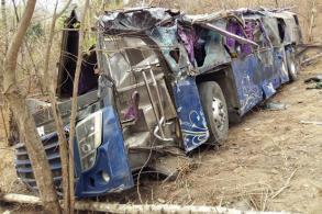 Busload of students crashes into ravine