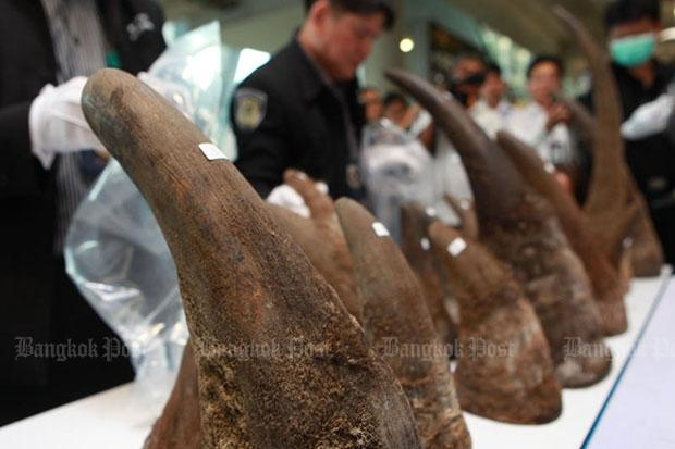 Almost $5M worth of rhino tusks seized from luggage in Thailand