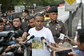 Wanted vagabond caught for Thai-Belgian bridge fire