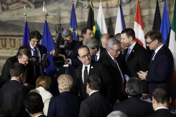 EU leaders mark bloc's 60th anniversary as turning point
