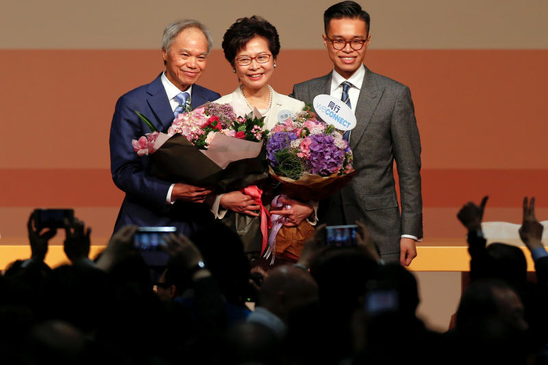 Beijing's pick Lam chosen as Hong Kong leader