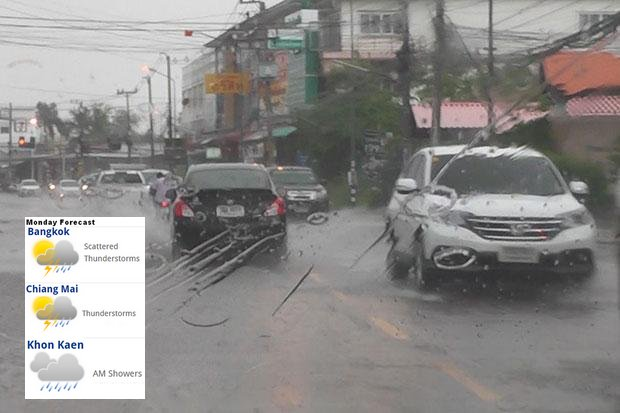 Summer storms trouble Isan, more rains to come