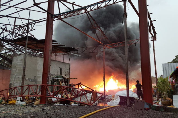 Tonnes of used plastic fuel fire at recycling plant