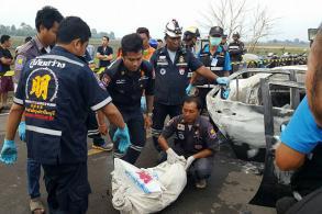 Man killed, set on fire, released prisoner hunted