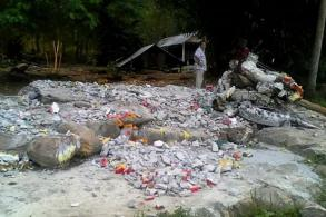 Outrage after 9 'Naga' statues torched at temple