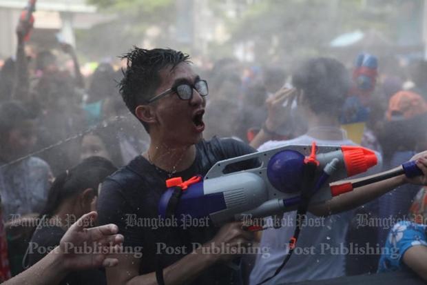 Scenes from Bangkok's Songkran battlegrounds