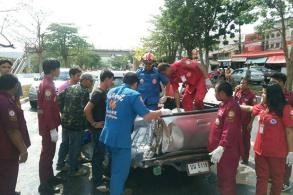 Girl riding in pickup bed killed
