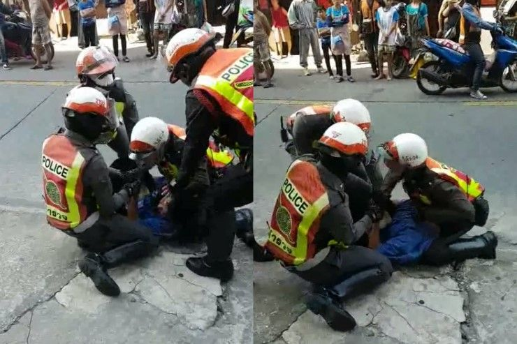 'Man roughhoused and handcuffed for filming police' ?