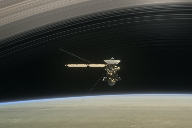 Cassini's 'grand finale' begins with a dive through Saturn's rings