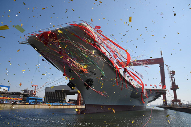 China launches first domestically-made aircraft carrier