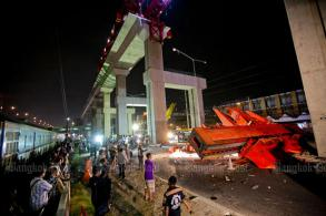 Red Line work halted after crane collapse kills three