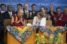US reps, Dalai Lama pinpoint China sore spot Tibet