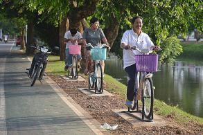 Biking for clean water in Phitsanulok