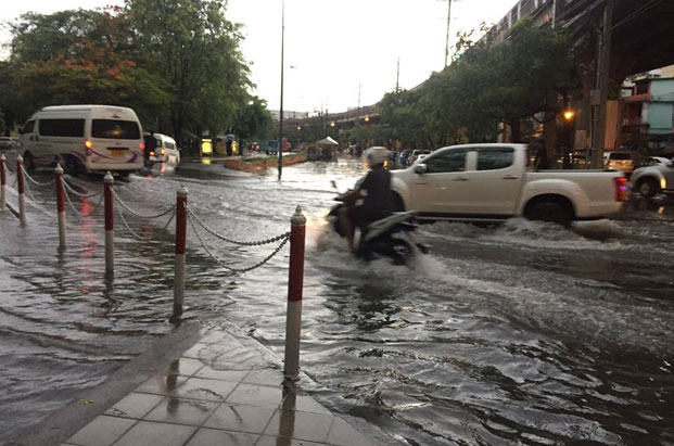 City roads flooded after torrential overnight rain