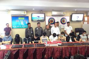 Chinese online gambling centre busted in Pattaya