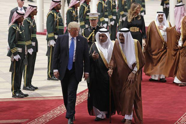 US President Trump arrives in Saudi Arabia