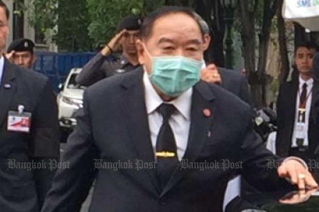 Deputy PM Prawit treated in Europe for Meniere's disease