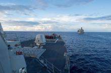 China protests US warship's move in S. China Sea