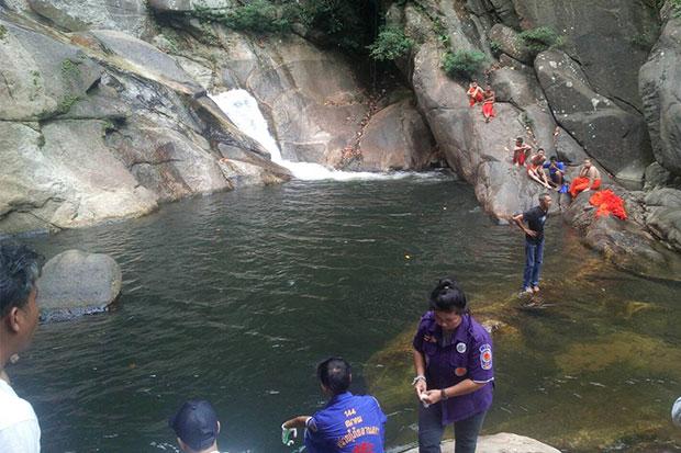 Novice drowns at waterfall in Nakhon Si Thammarat