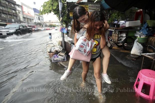 Scenes from a rainy Bangkok