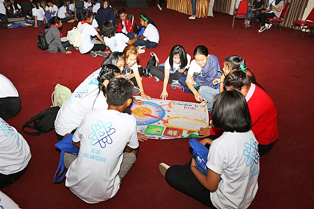 Blue Volunteers Youth Summer Camp: building voluntary spirits