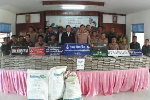 Lao boatman arrested delivering 840kg of marijuana