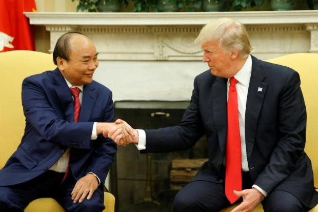 Trump welcomes Vietnam leader to White House