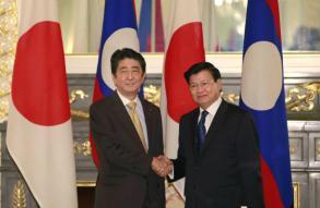 Japan, Laos PMs meet in Tokyo to talk development
