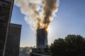 6 dead, 74 injured in London tower fire