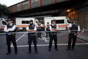 Van driven into people outside mosque in London, killing one