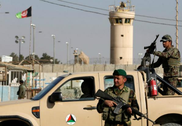 Gunmen killed 8 Afghan guards of a US base