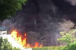 Fire engulfs Tokyo warehouse under demolition
