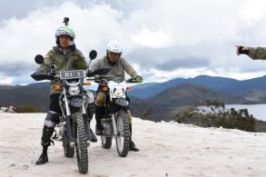 On dirt bike, Indonesia's Jokowi kickstarts presidency