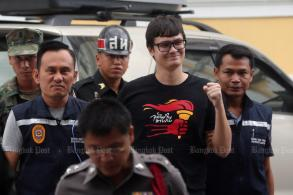 Student activist Rangsiman sent to military court, bailed
