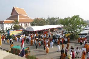 Ayutthaya temple explains actions