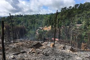 Fire razes living area at Mae Hong Son refugee camp