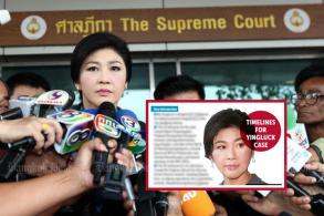 PM warns of possible unrest at Yingluck trial