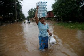 Myanmar floods kill two, displace tens of thousands