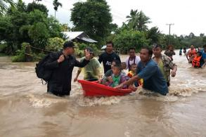 Severe flooding in Ubon Ratchathani