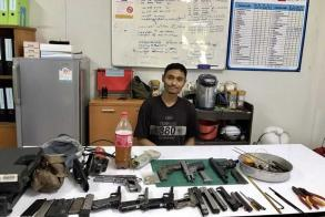 Man arrested after guns sold on Facebook