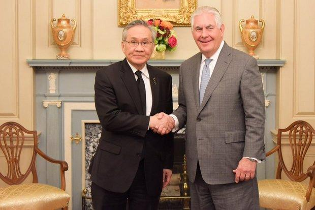 US Secretary of State meeting Najib tonight