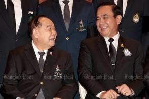 Prawit: Political ban stays 'until I'm happy'