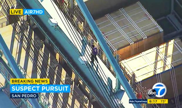 Naked man dies after plunge from Los Angeles crane