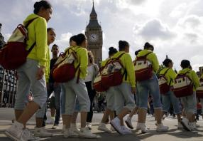 Britain sets foreign-visitor record